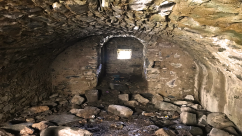 Tarbert Castle's vaulted basement