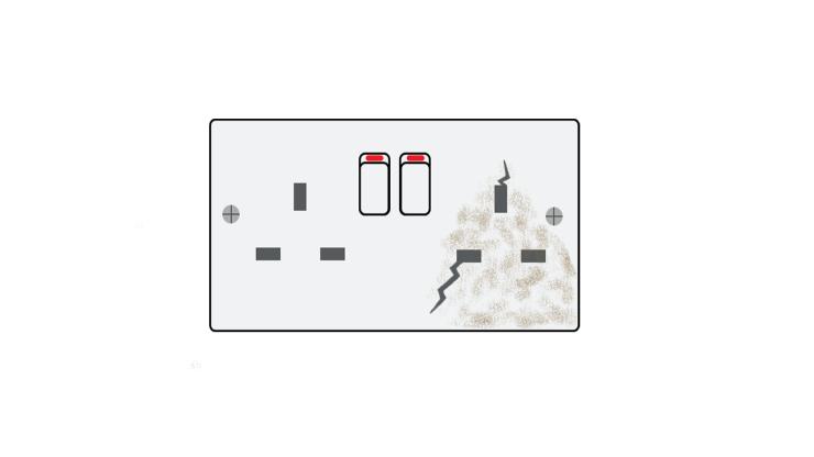 damaged socket
