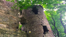 Dalquharran Castle showing original 15th century circular tower