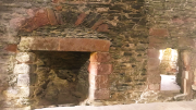 Skipness Castle showing doorway and fireplace