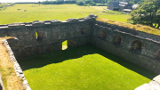 View from Skipness Castle into courtyard