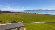 View from Skipness Castle roof over to Arran