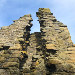 Inside Dunure Castle