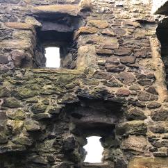 Inside Dunure Castle