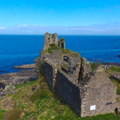 Overhead view of Dunure Castle