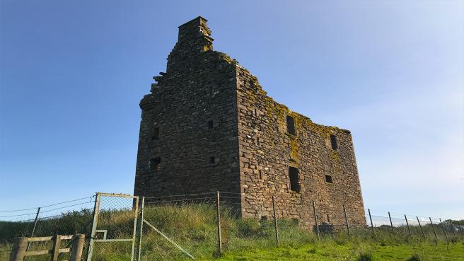 Baltersan Castle showing rear view