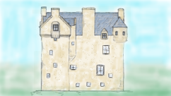 Baltersan castle sketch