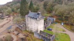 Corner view of Saddell Castle