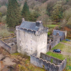 Corner view of Saddell Castle