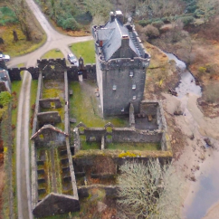 Overhead view of Saddell Castle