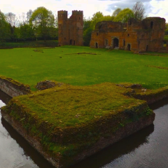 Corner view of Kirby Muxloe Castle