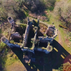 Overhead view of Cambusnethan Priory